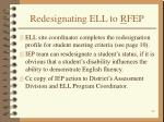 redesignating ell to r fep