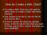 how do i make a kwl chart