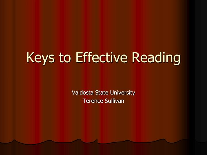 keys to effective reading n.