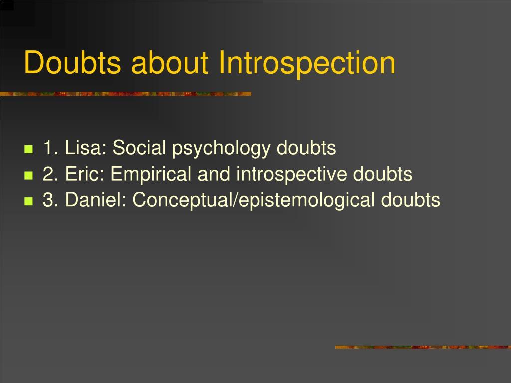 Doubts about Introspection