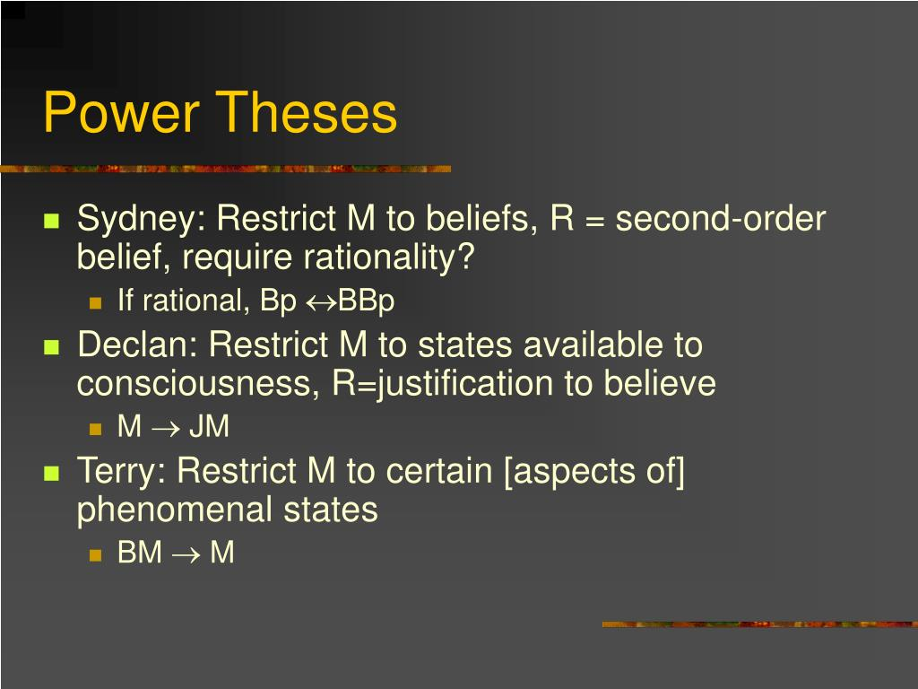 Power Theses