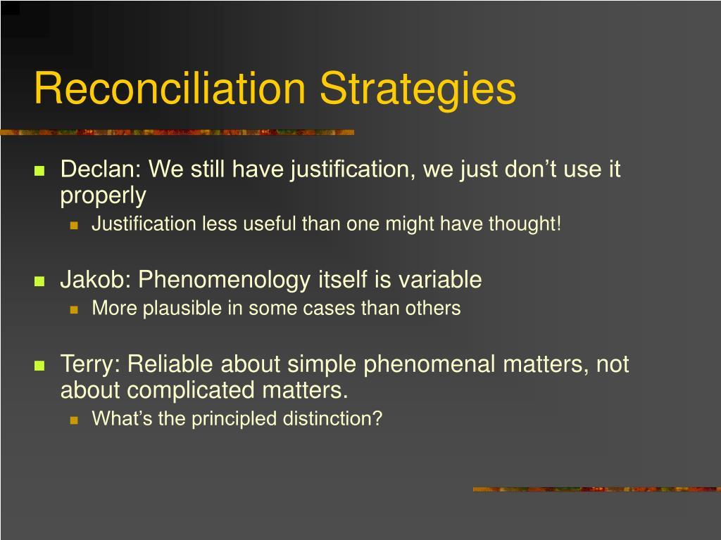 Reconciliation Strategies
