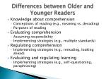 differences between older and younger readers