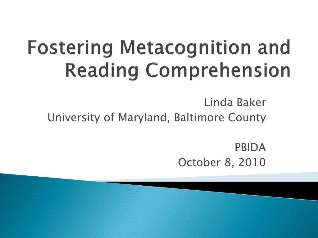 fostering metacognition and reading comprehension l.