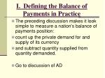 i defining the balance of payments in practice