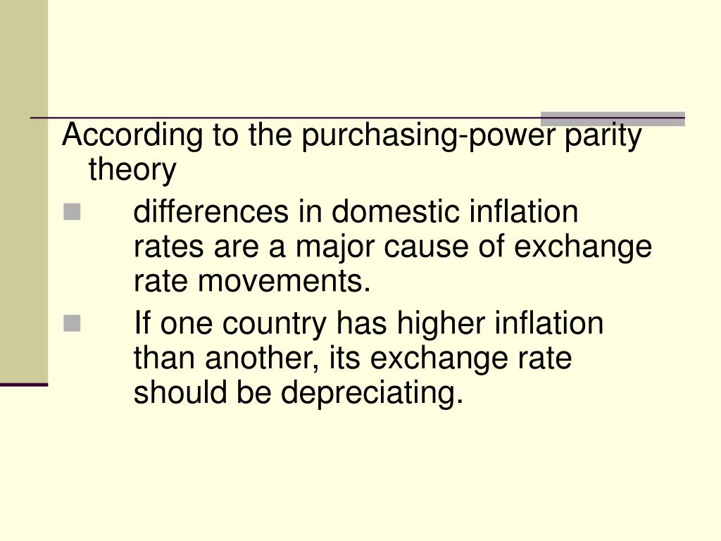 According to the purchasing-power parity theory
