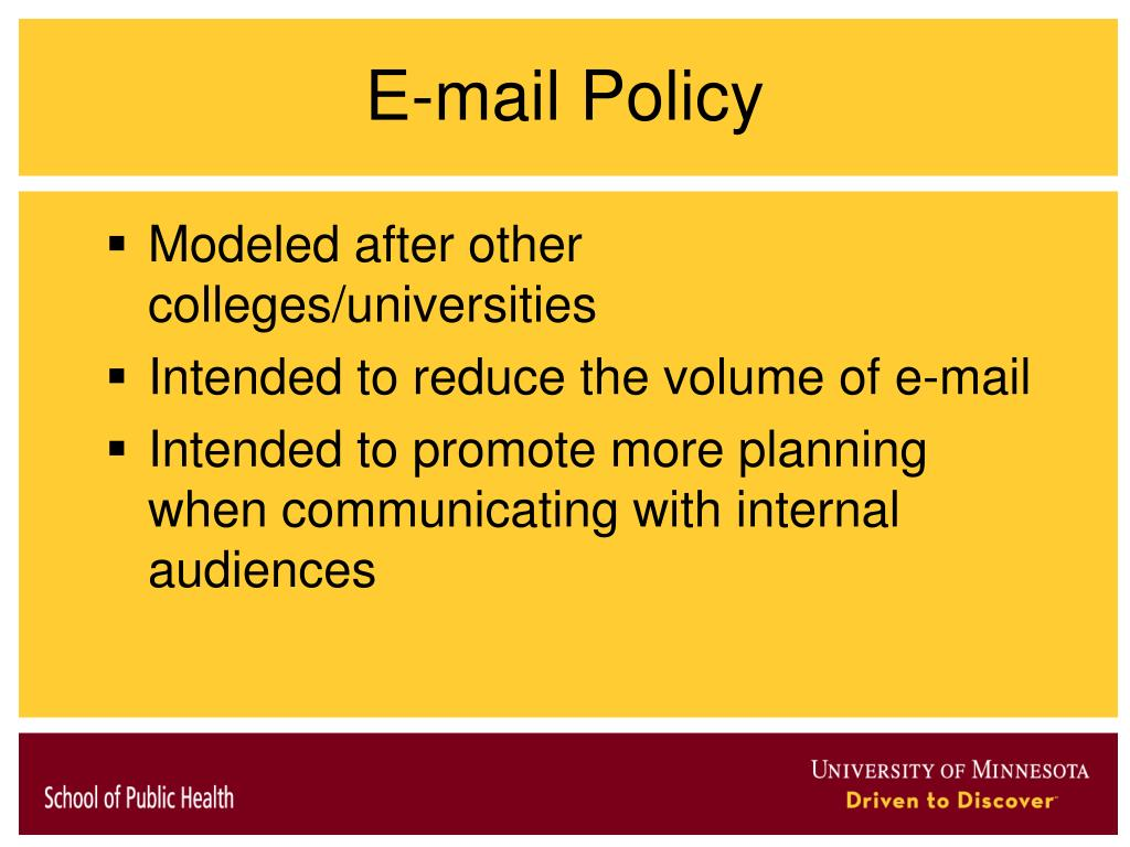 E-mail Policy