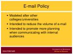 e mail policy