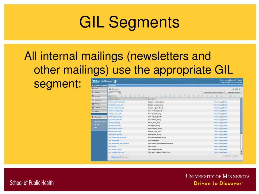 GIL Segments