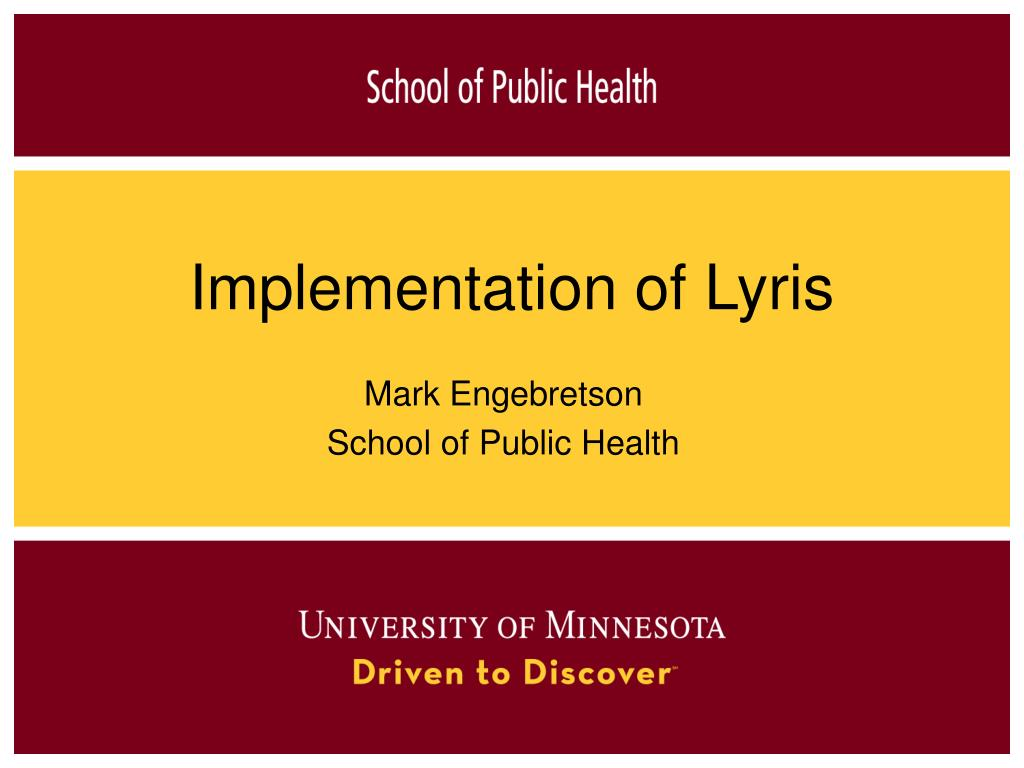 Implementation of Lyris