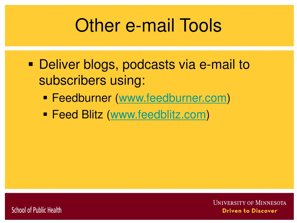 Other e-mail Tools