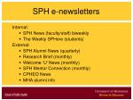 sph e newsletters