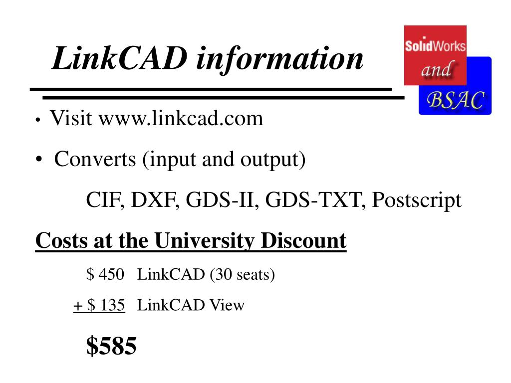LinkCAD information