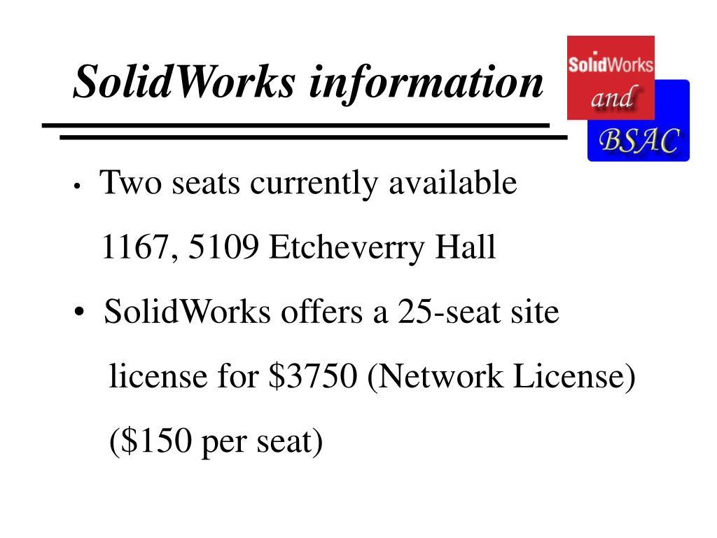 SolidWorks information