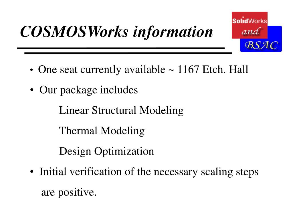 COSMOSWorks information