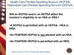 health care flexible spending account hcfsa dependent care flexible spending account dcfsa