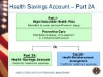 health savings account part 2a