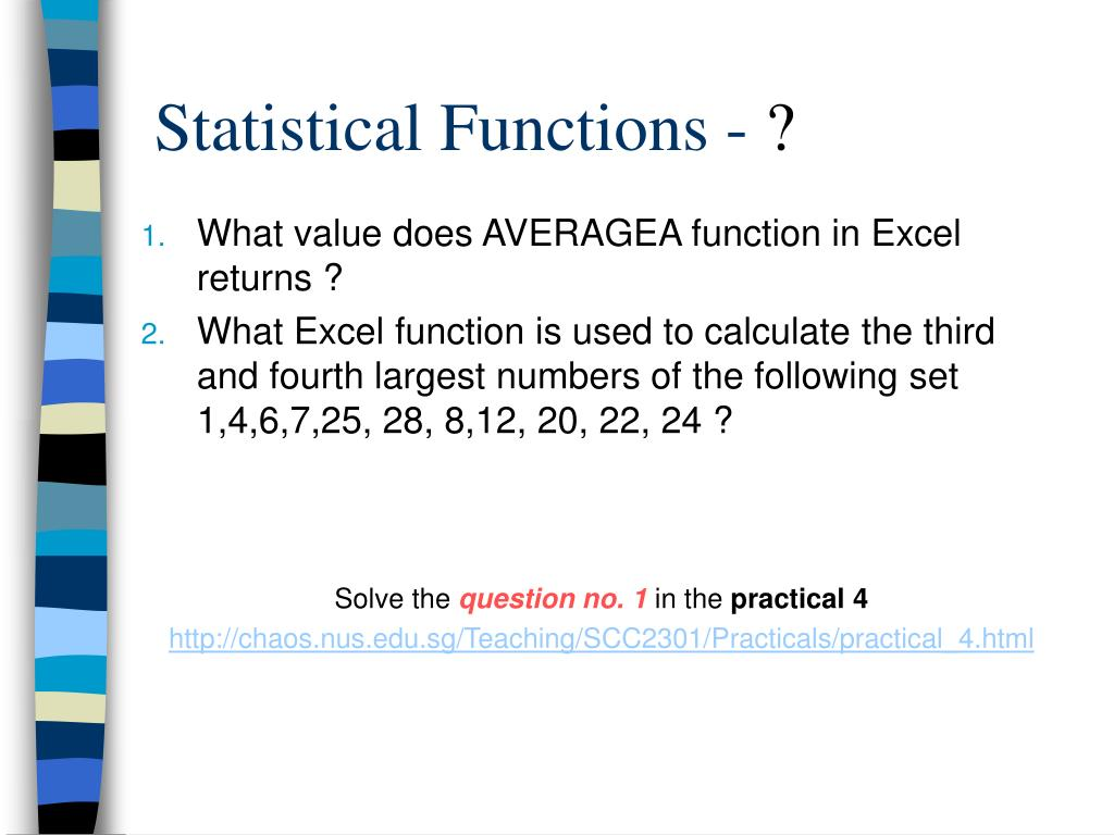 Statistical Functions -