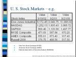 u s stock markets e g