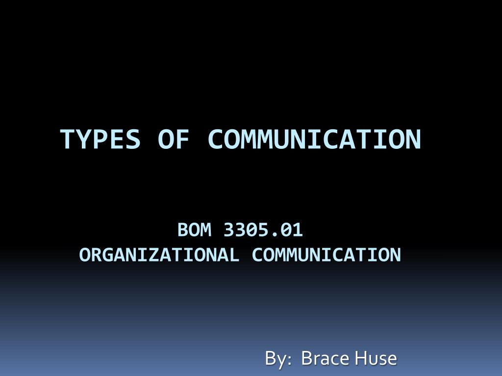 types of communication bom 3305 01 organizational communication l.