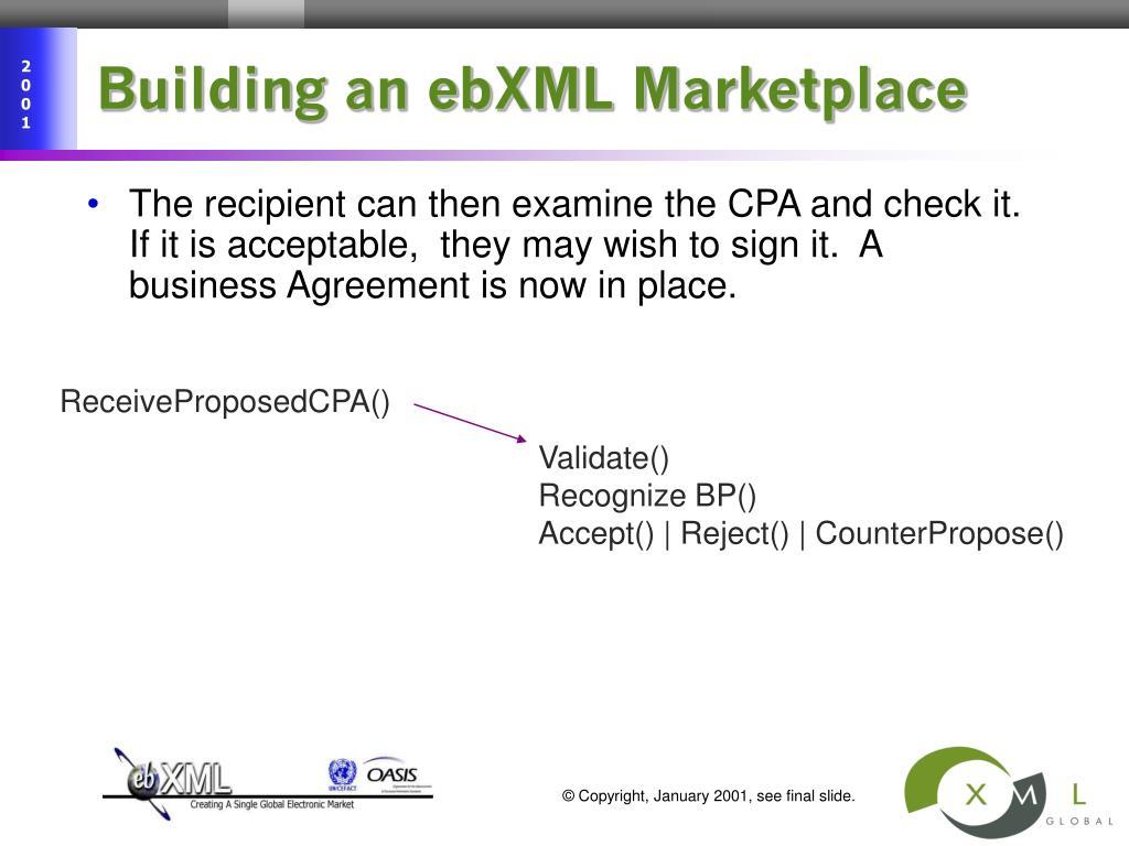 Building an ebXML Marketplace