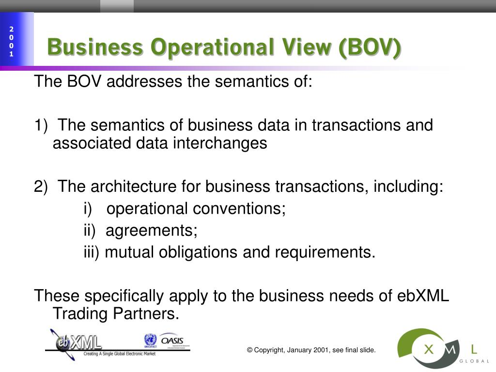 Business Operational View (BOV)