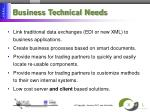 business technical needs