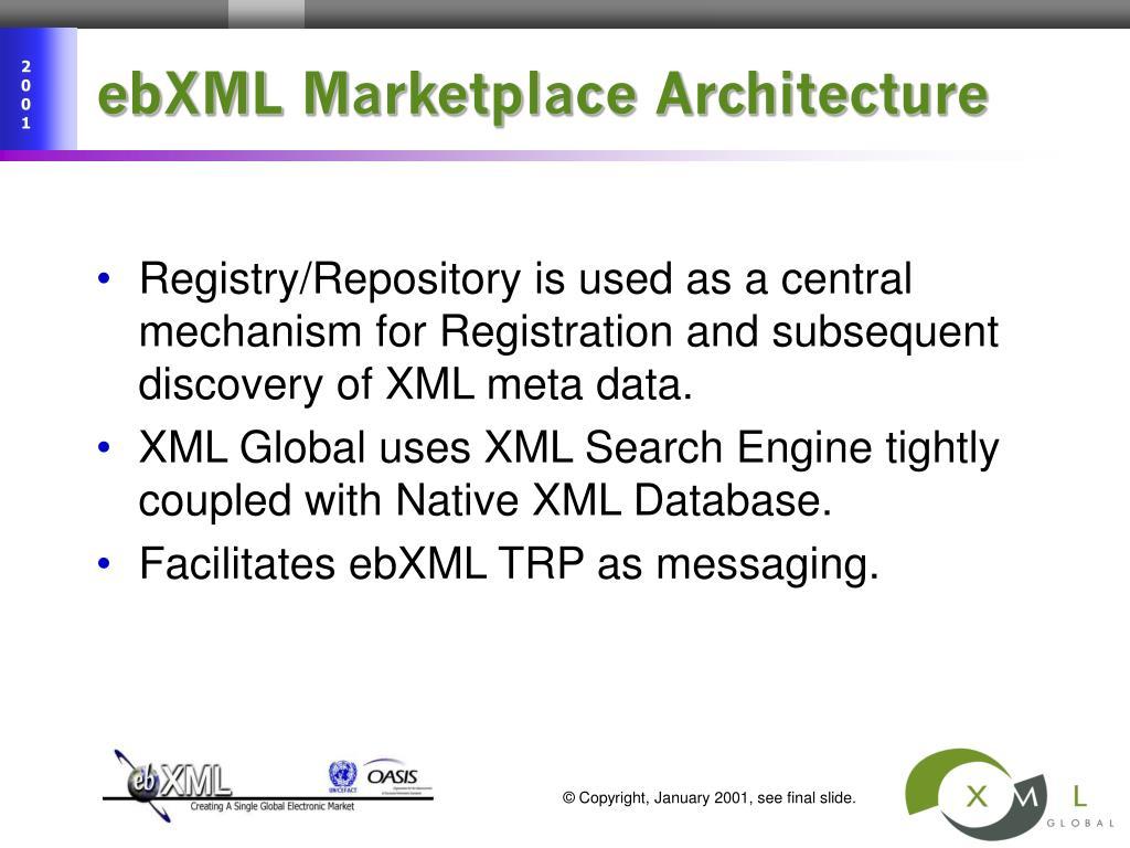ebXML Marketplace Architecture