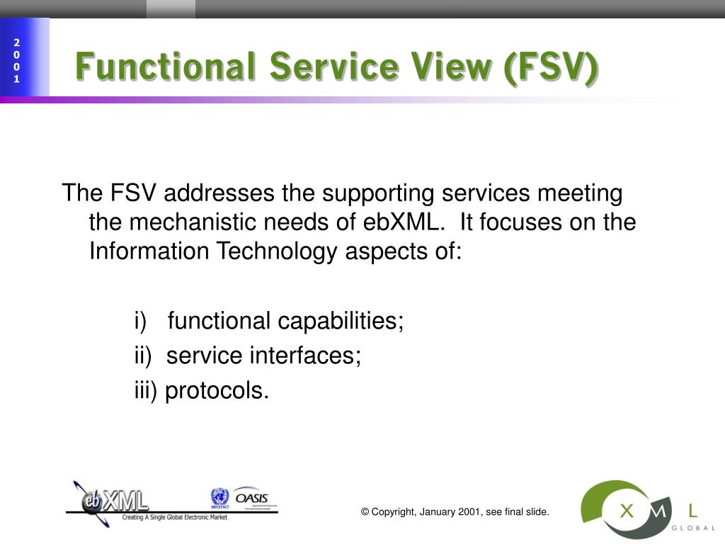 Functional Service View (FSV)