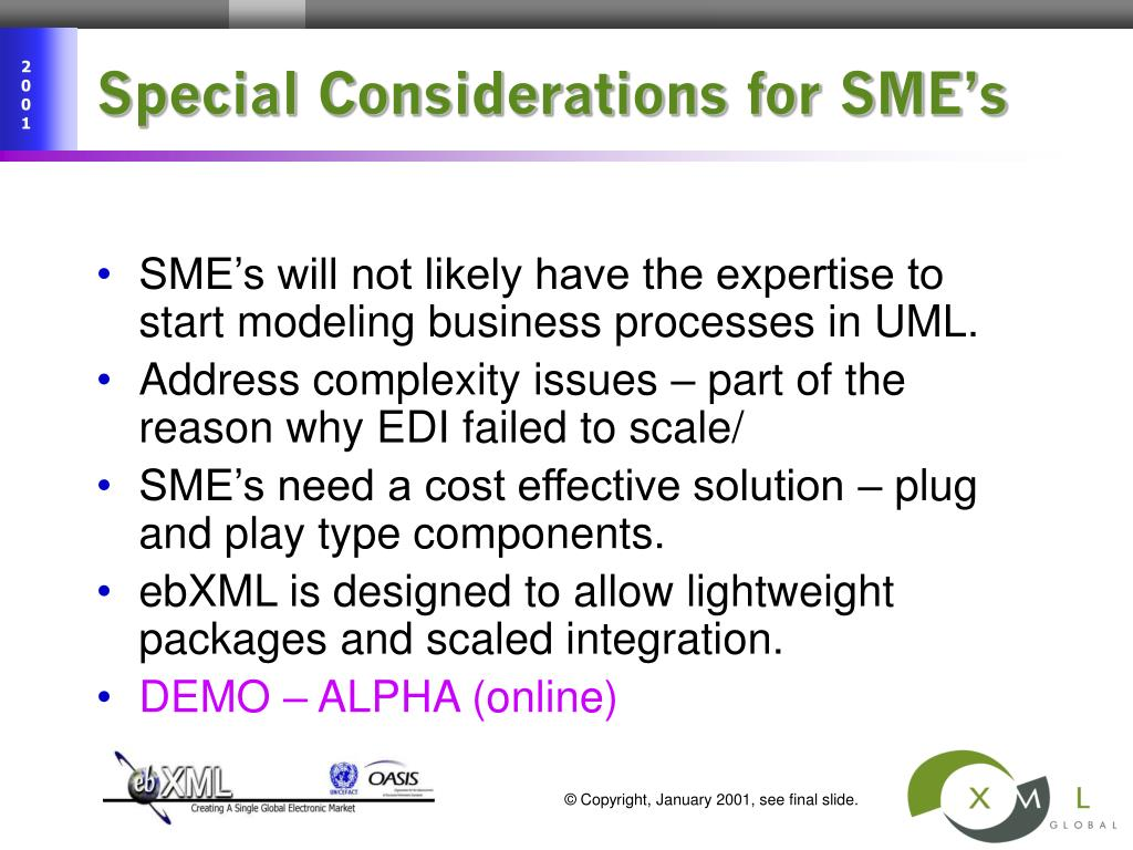 Special Considerations for SME's