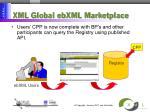 xml global ebxml marketplace