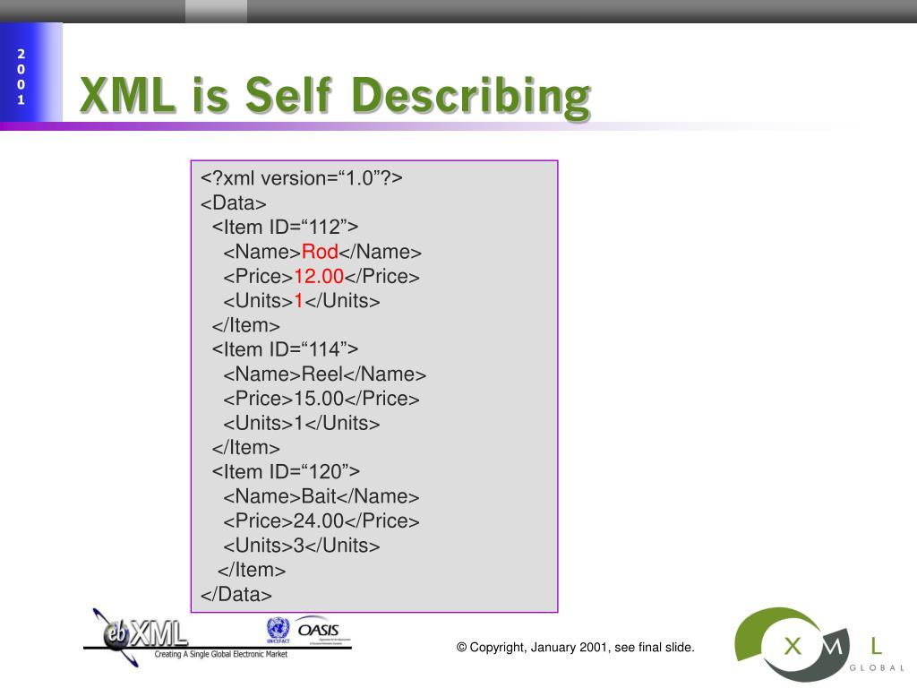 XML is Self Describing