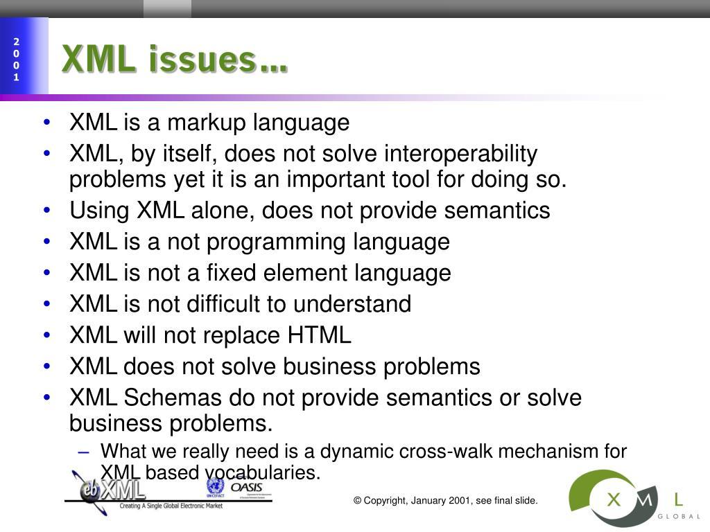 XML issues…