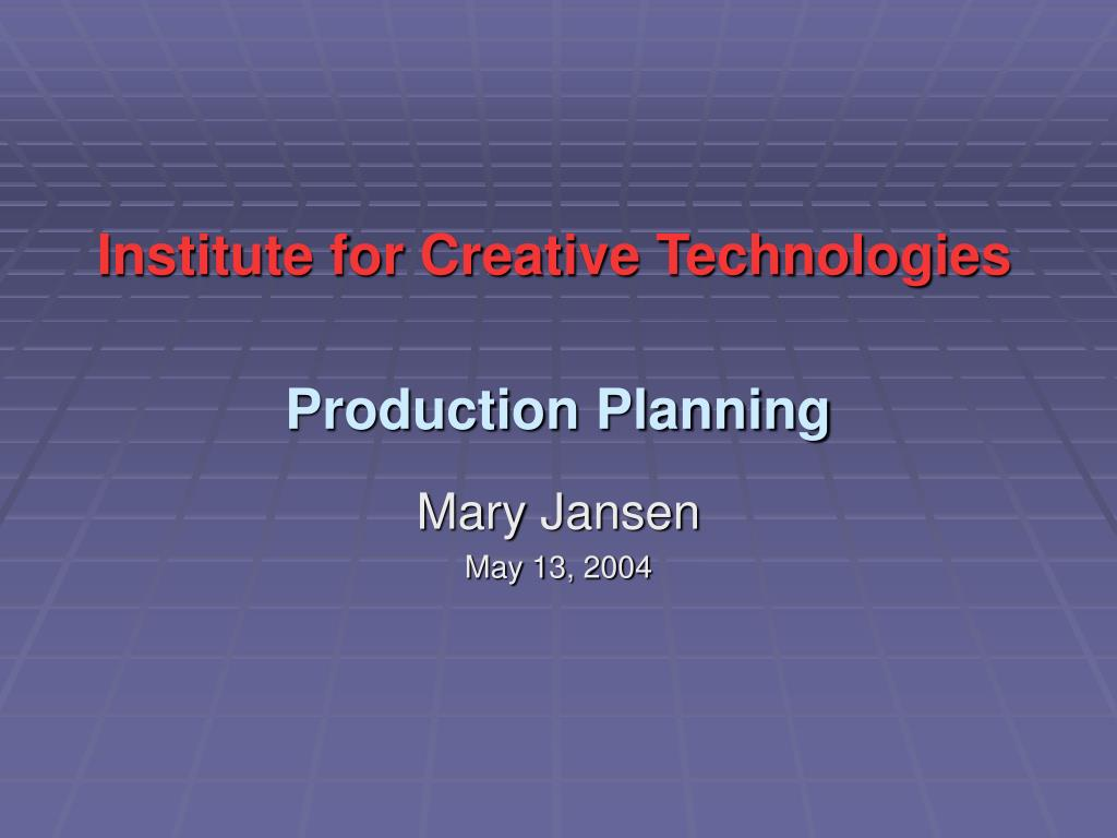 production planning l.