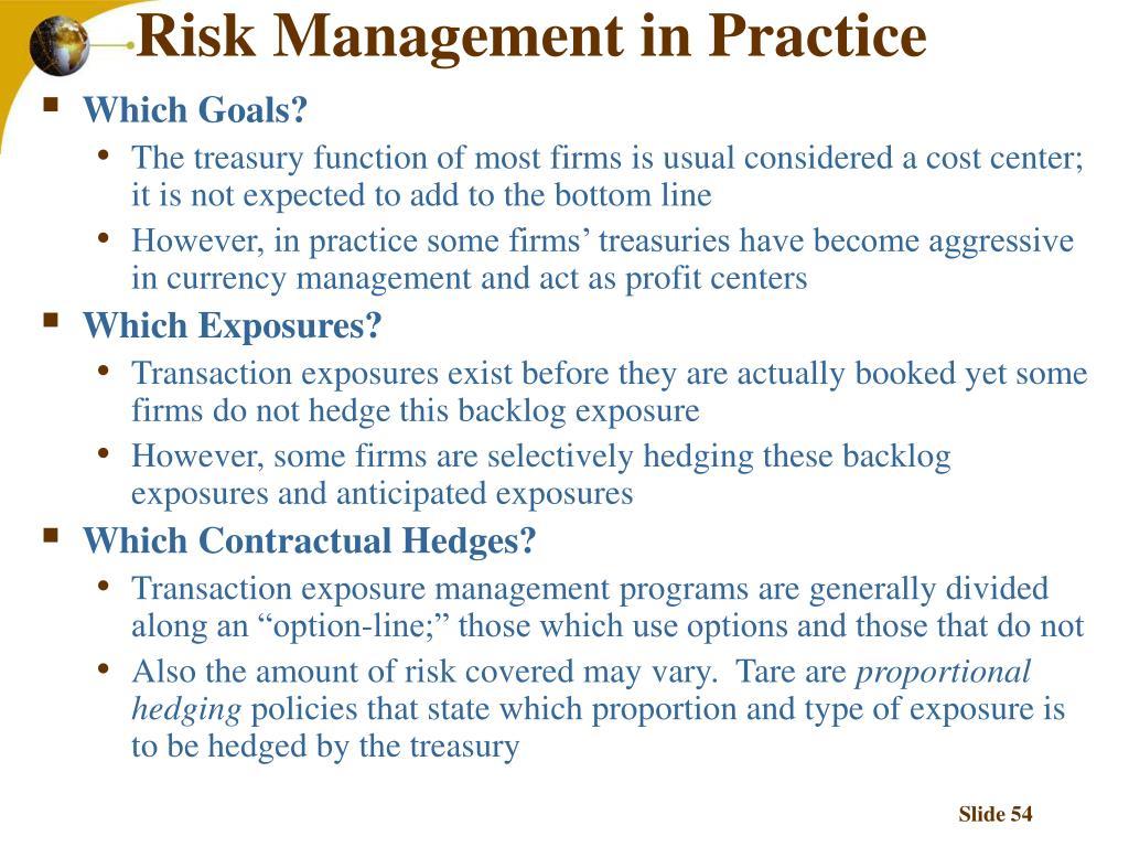 Risk Management in Practice