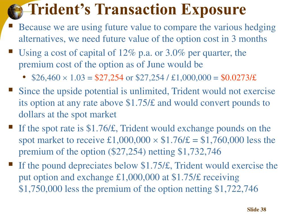 Trident's Transaction Exposure
