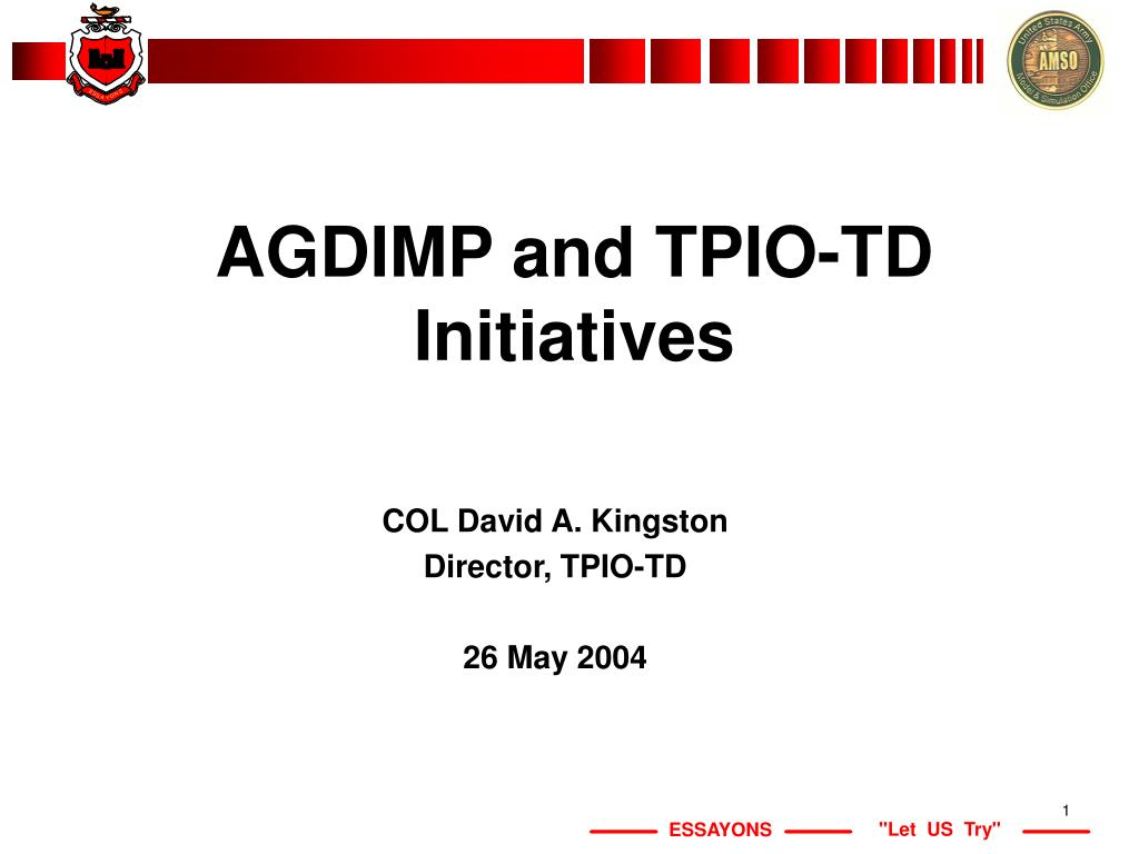 agdimp and tpio td initiatives l.