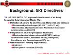 background g 3 directives