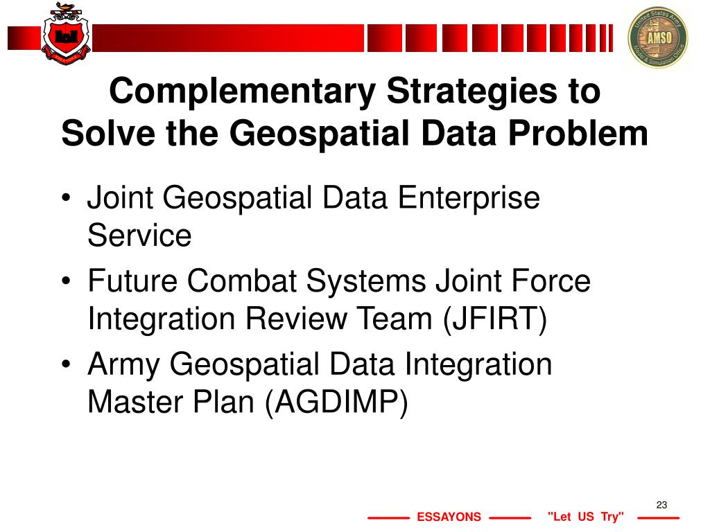 Complementary Strategies to Solve the Geospatial Data Problem