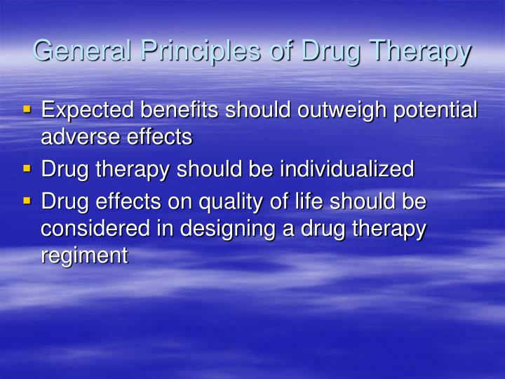 General Principles of Drug Therapy