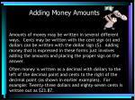 adding money amounts