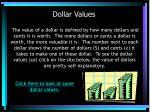 dollar values
