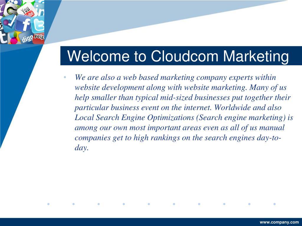 Welcome to Cloudcom Marketing