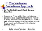 ii the variance covariance approach10