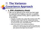 ii the variance covariance approach7