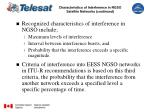characteristics of interference in ngso satellite networks continued