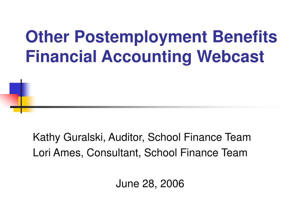other postemployment benefits financial accounting webcast l.