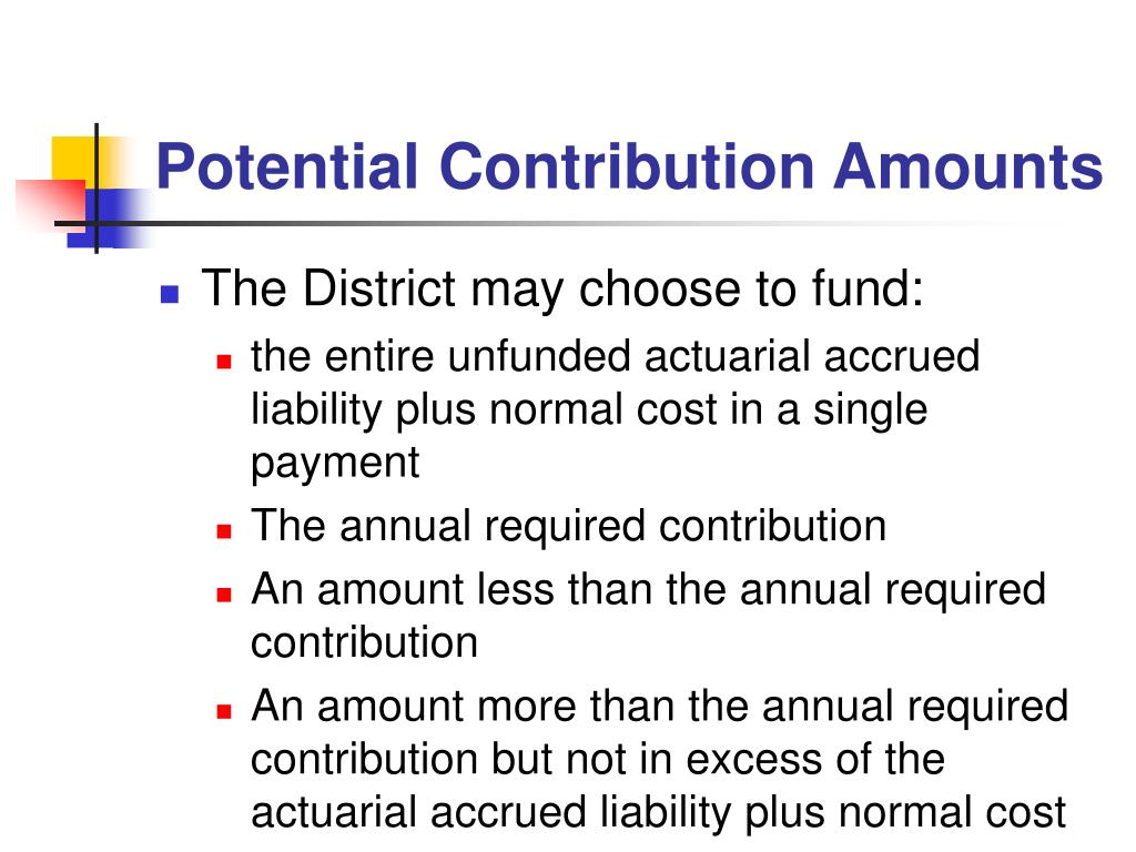 Potential Contribution Amounts