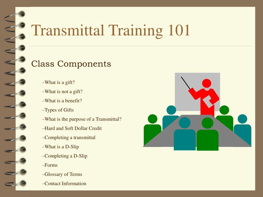 transmittal training 101 l.