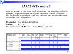 larceny example 2